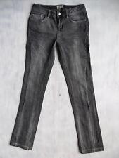 Karen Millen slim aged grey Denim Jeans Hose Gr 36 W27 W28/L34 neuw. $79