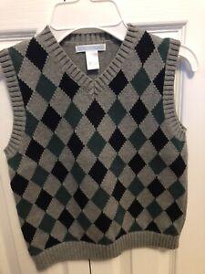 Janie And Jack Boys Sweater Vest Size 6 Gray