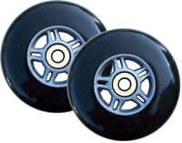 2 BLACK REPLACEMENT Wheels ABEC7 Bearings SCOOTER 100mm