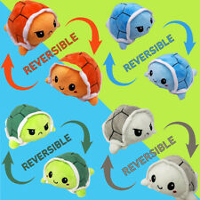 Cute Double-Sided Flip Reversible turtle Plush Toys Funny Animals Doll Kids Gift