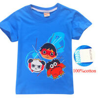 Ryan Toys Review Kid's boys girls Youth Short sleeve Tops T-Shirt Tees Clothing