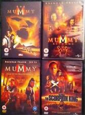 THE MUMMY TRILOGY [1,2,3] & THE SCORPION KING Horror Action Adventure DVD *EXC*