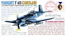 COVERSCAPE computer designed First Flight of the Vought F4U Corsair event cover
