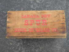 VINTAGE DOBBS BEVERAGE SPUR CANADA DRY SODA WOOD BOTTLE BOX WORCESTER MASS. MA.