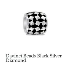 Davinci Beads Black Silver DiamondInterchangeable Jewelry DB102-6