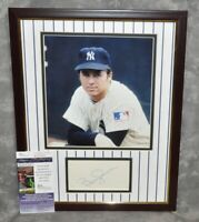 Bobby Murcer Autographed Framed 3x5 Matted New York Yankees JSA Certificate #3