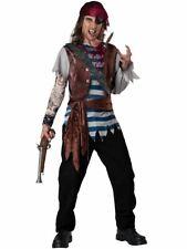 Dead Mans Chest Pirate Costume Captain Halloween Fancy Dress Adult Mens X-Large