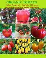 Tomato Deluxe  Tomate -100+Seeds Mix 9 Varieties Giant Heirloom NON-GMO