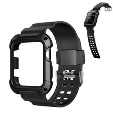42mm Rugged Silicon Sport Strap Band Screen Protector Case For Apple Watch 3/2/1