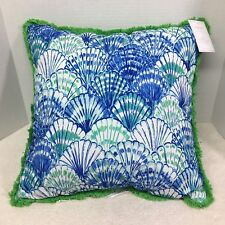 NWT Lilly Pulitzer In Oh Shello For Pottery Barn 20 x 20 In Pillow Shell Design