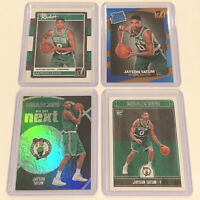 LOT (4) 2017-18 Panini Donruss & Hoops Holo SP Jayson Tatum Rookie Cards RC🔥📈