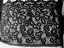 tissu dentelle fine noir  Chantilly calais ? 50x26cm ♥
