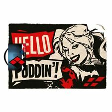 Harley Quinn Hello Puddin Doormat Entrance Welcome Mat - DC Comics Accessories