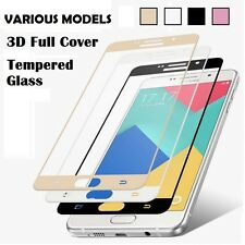 FULL COVER EDGE TO EDGE TEMPERED GLASS SCREEN PROTECTOR SAMSUNG/HTC/HUAWEI/ONE+