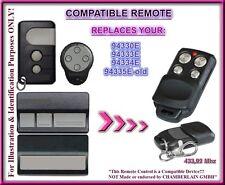 Liftmaster 94335E/94330E/94333E/94334E compatible con control remoto 433,92Mhz