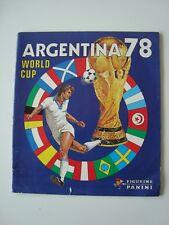 Panini World Cup 1978, álbum en blanco, álbum empty, WM 78, muy raras