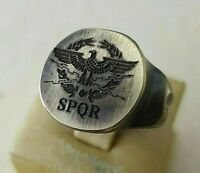 Ring SPQR- Ancient Bronze Legio -Vintage-Antique ROMAN RARE