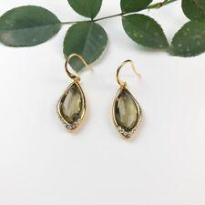 Signed Alexis Bittar Designer Drop Earrings - Green