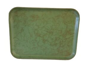 Vintage Toteline Molded Fiberglass Serving Tray Large Decorative