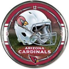 NFL Arizona Cardinals Horloge Murale Mur Horloge Chrome Montre Football