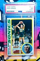 1978 Topps Basketball Jack Sikma ROOKIE RC #117 PSA 7(ST) Vintage NBA Basketball
