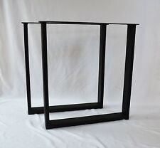 24x27x3 Flat Black STEEL Table legs rectangle Square Table legs, Dining Room