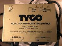 TYCO HO VINTAGE MODEL TRAIN TRANSFORMER MODEL #899V MADE IN HONG KONG WORKS