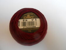 DMC Perle 8 Cotton Ball Burgundy Colour 814