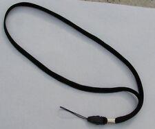 50 BLACK NECK Lanyards STRAP ~ Removable ~Detachable ~ End+Loop WHOLESALE LOT