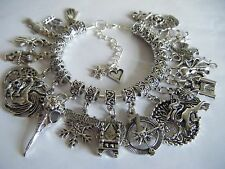 Game of Thrones Charm Bracelet The House Banners 7 Kingdoms Nights Watch Dragons
