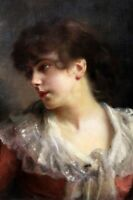 """perfect oil painting handpainted on canvas """"Portrait of a young lady""""@N10918"""