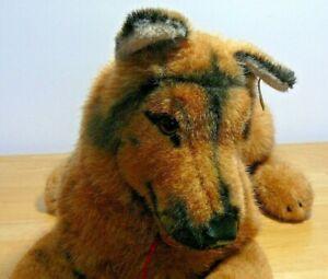 "Steiff German Shepherd Dog Arco Lying 19"" 1983"