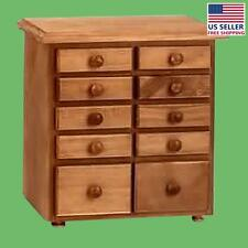 Kitchen Spice Chest Unfinished Pine 10 Drawer | Renovator's Supply