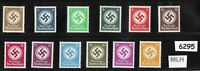 MLH Complete officials stamp set / 1934 Issues / Third Reich / WWII Germany