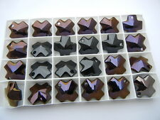 5 swarovski crystal cross pendants,20mm special coated #6866