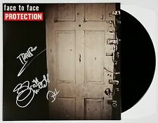 FACE TO FACE BAND SIGNED PROTECTION LP VINYL RECORD ALBUM W/COA TREVER KEITH
