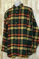 Vintage LL Bean Plaid Flannel Shirt USA Button Down Long Sleeve Soft Men's 2XLT