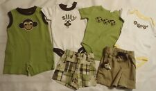 Gymboree Monkey Trouble 0-3 month Summer Lot Shorts Bodysuits NWT