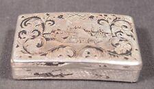 1848 Antique Russian Silver & Neillo Pocket Snuff Box