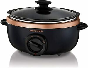 Morphy Richards 460016 Slow Cooker Sear and Stew Black and Rose Gold