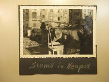 ~1950 altes Foto Slums in Neapel / Italien Italy Napoli