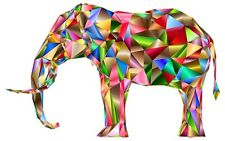 Elephant Rainbow Iron on transfer / Fun / KIDS - A5 Size