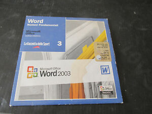 Microsoft Word 2003 Course User Basics On Cd-Rom - Attachment Journal Sport 3