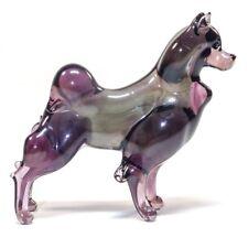 Original Blown Glass Figurine Spitz Glass. Murano Art. Handmade dog lampwork