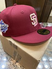 Hat Club Exclusive New Era San Diego Padres Red Velvet Pink UV Size 7 3/4