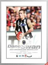 AFL  DANE SWAN BROWNLOW MEDAL 2011 PREMIERS  LIMITED EDITION TEAM - FRAMED