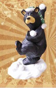 "BEARFOOTS ""SNOW BEAR FIGHT"" BIG SKY CARVERS BEAR FOOTS ARTIST JEFF FLEMING #3201"