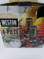 Weston 4 Piece Accessory Kit Salsa, Berry & Pumpkin Screens & Grape Spiral NEW