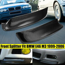 For BMW E46 M3 1999-2006 REAL CARBON FIBER CSL STYLE FRONT BUMPER