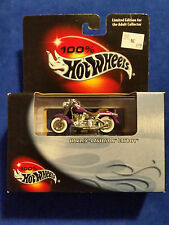 Harley-Davidson Fatboy  100% Hot Wheels, 1:64, Purple, error reverse packaged